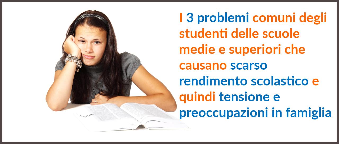 I 3 problemi studenti titolo